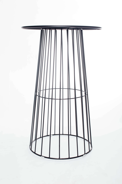 High Bar Table Dexian Wire High Bar Table Black Open