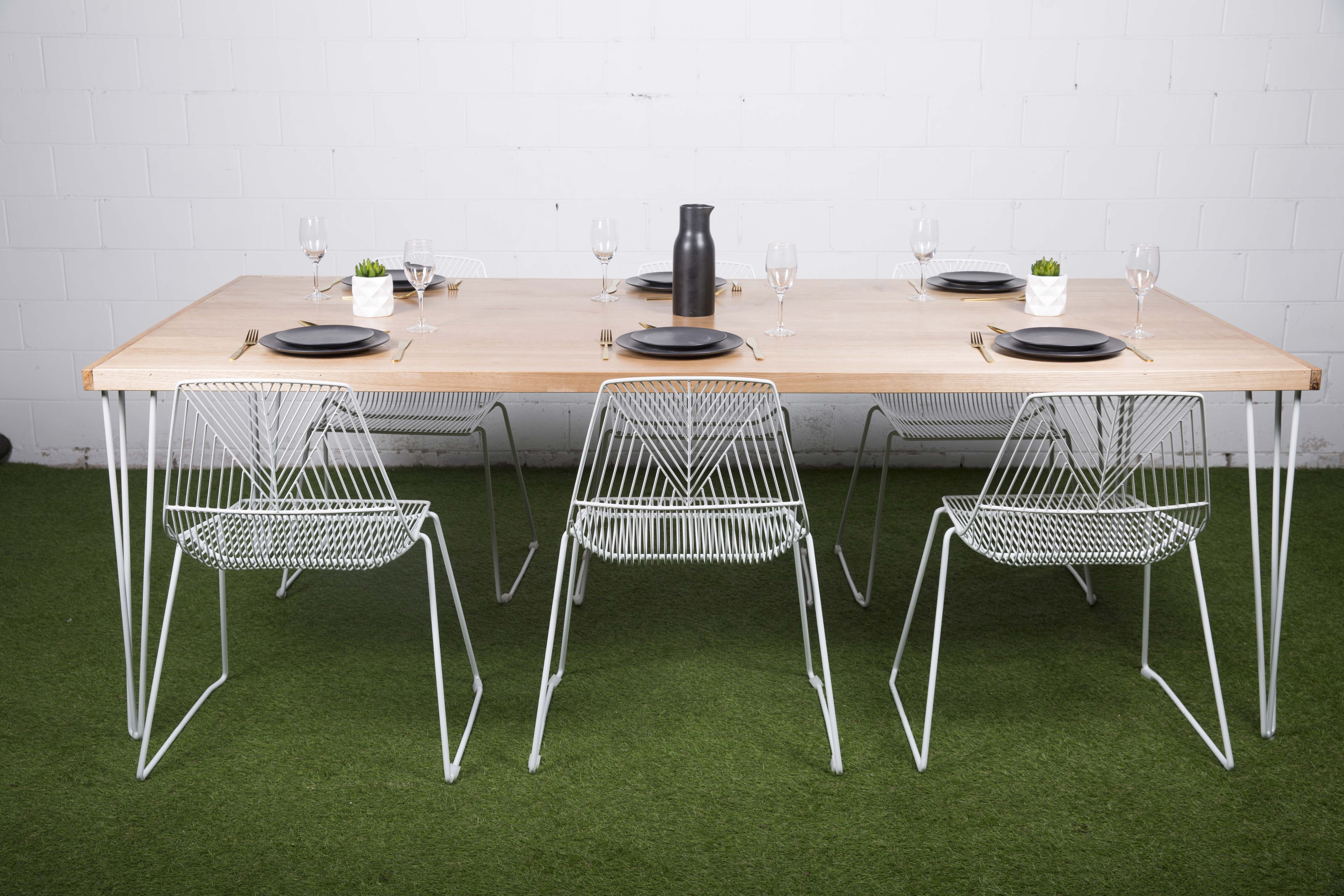 Dining table hire melbourne open air events