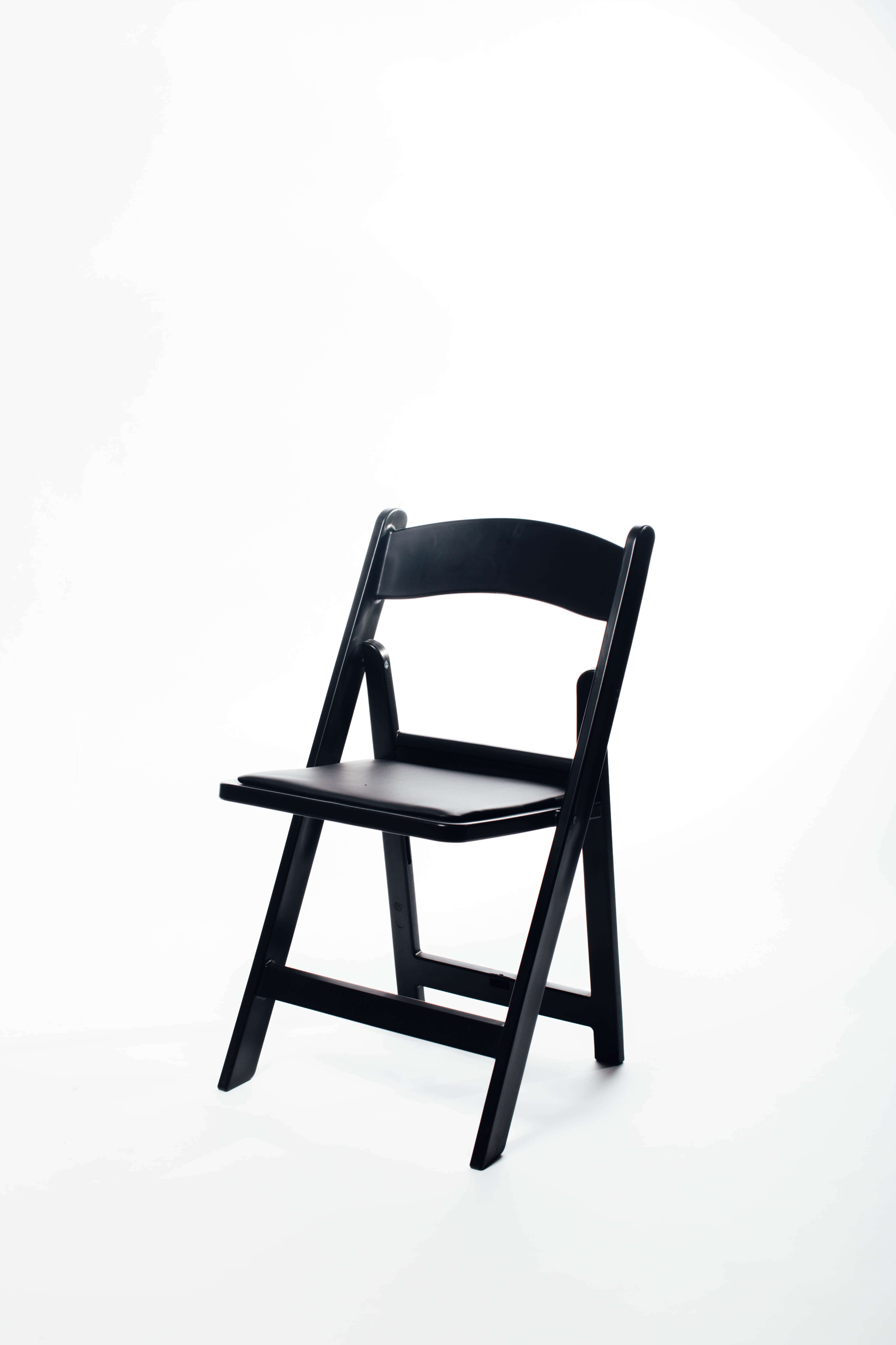 Black Padded Folding Chair Open Air Events